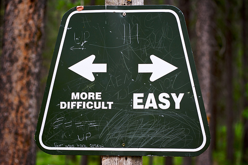 more difficult - easy